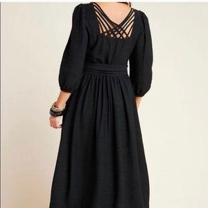 NWT Anthro The Odells Hyacinth Black Strappy Dress